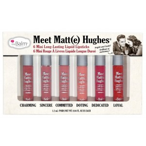 The Balm Meet Matte Hughes Set of 6 Mini Long-Lasting Liquid Lipsticks เซ็ทมินิ สี Bestseller 6 สี พร้อมส่ง ลด 50% www.lipmeplease.com