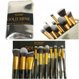 CITY COLOR 10 Piece Dual Fiber Synthetic Makeup Brush Set เซ็ทแปรง 10 ชิ้น www.lipmeplease.com